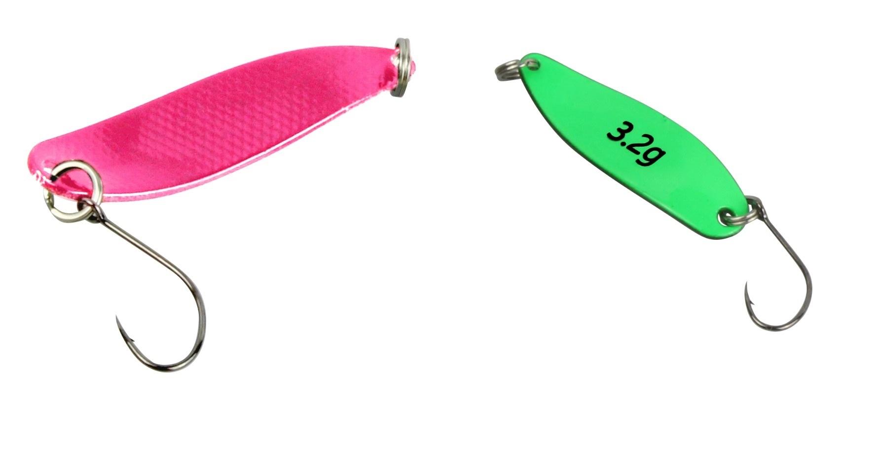 FTM Trout Spoon Forellenblinker Hammer 110 UV Pink Grün 3,2g 5200110 Ultra Light