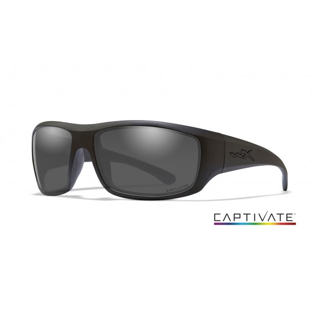 Wiley-X OMEGA Captivate Smoke Grey Matte Black Frame