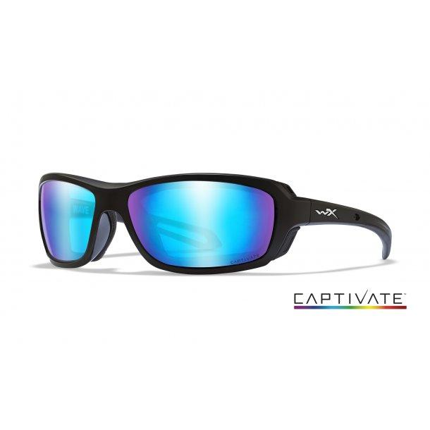 Wiley-X WAVE Captivate Blue Mirror Matte Black Frame