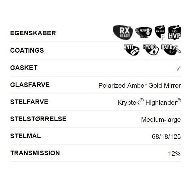 b914c74d7b24 Wiley-X BOSS Pol Amber Mirror Kryptek Solbrille - Solbriller til fiskeri ...