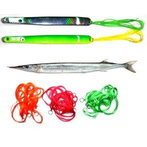 Silketråd og blink til hornfisk